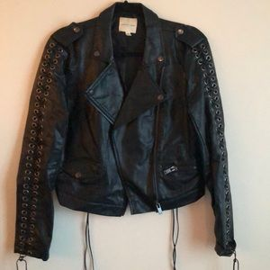 Silence and Noise Vegan Leather Jacket